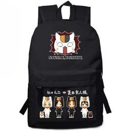 China natsume yuujinchou backpack cat teather Cosplay Bags Anime Nylon Cartoon Schoolbags cheap white cat backpack suppliers