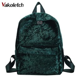 $enCountryForm.capitalKeyWord Canada - Fashion Velvet Women Backpack Large Capacity Bag for Teenage Girls Female Rucksack Student School Storage Bag Mochila KL257 Y18110201