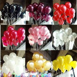 Black white Birthday party supplies online shopping - 2 g Decorative Balloons Colors Inflatable Wedding Decorations Air Ball Happy Birthday Party Supplies Balloon Kids Toys