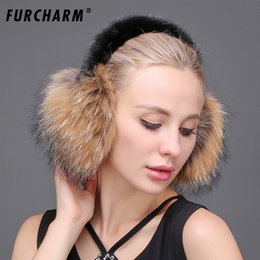 6e4f196f69d99 FURCHARM Real Fox Fur Ear Muffs Winter Earmuffs Warmer for Girls Genuine  Fur Earmuffs Natural Fox Earmuff Headphones Women