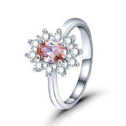 Platinum Product online shopping - 2018 new products European and American fashion foreign trade violence style jewelry colored zircon plated platinum ring JZ29