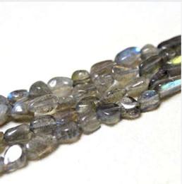 $enCountryForm.capitalKeyWord Canada - Wholesale Irregular Shape Natural 5-8 mm Grey Spectrolite Stone Beads For Jewelry Making DIY Bracelet Necklace Strand 15''