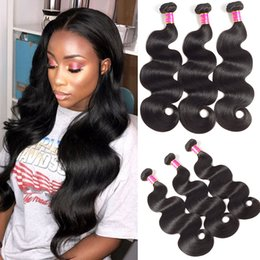 Discount cambodian loose curly hair - 10A Raw Indian Hair Body Wave 4 Bundles Unprocessed Wholesale Deep Curly Loose Wave Brazilian Human Virgin Body Wave Hai