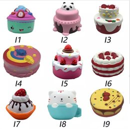 Cell kid online shopping - Squishy cakes fox squishies Slow Rising cm cm cm cm Soft Squeeze Cute Cell Phone Strap gift Stress children toys Decompression Toy