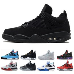 China Basketball Shoes sneakers for men 4s Travis white cement 23 Bred Fire red pure white sports designer shoe trainer discount Size us 8-13 cheap table tennis shoes for size suppliers