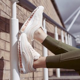 4a14a7073bacf6 2018 winter new Max 97 series wild men s air cushion ladies running shoes  pink colorful . ...