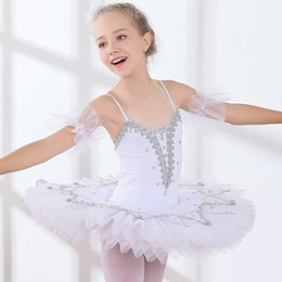 ballerina tutu kids UK - Professional White Swan Lake Ballet Tutu Costume Girls Children Ballerina Dress Kids Ballet Dress Dancewear Dance Dress For Girls 5Color 004
