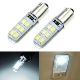 $enCountryForm.capitalKeyWord Australia - 2pcs White DC12V Car T4W BA9S 12SMD 2835 Chip Silicone Case LED License Plate Bulbs Lamp Door Light #4645