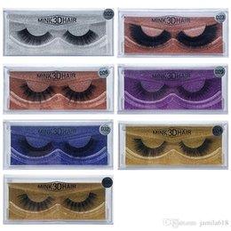 Handmade False Eyelashes Natural Long NZ - Wholesale Natural Thick Long 3D Mink lashes False Eyelashes Handmade Full strip Fake Eye Lashes Mink 3D Hair Eyelash Extension Beauty Tool
