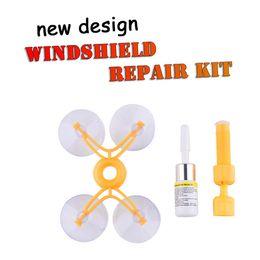 NEUE Windschutzscheibe Windschutzscheibe Repair Tool Set DIY Car Kit Wind Glas Für Chip Crack Großhandel Auto Fenster Reparatur Werkzeug Set