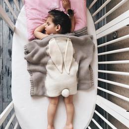 $enCountryForm.capitalKeyWord NZ - Baby Blanket Cartoon Rabbit Knitted Kids Blankets Soft Warm Wool Swaddle Kids Bath Towel Bedding Props Stroller Covers 5 Colors YW973
