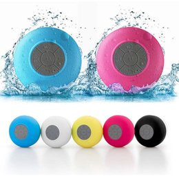$enCountryForm.capitalKeyWord Australia - Portable Waterproof Wireless Bluetooth Speakers Built-in Microphone suction cup design Mobile Phone Holders Speakers For iphone X 8 8Plus 7