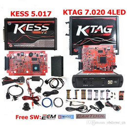 bmw ecu chips 2019 - New 4LED KTAG V7.020 Red PCB EU Online Version KESS 5.017 SW2.47 Chip Tuning Works Cars Trucks