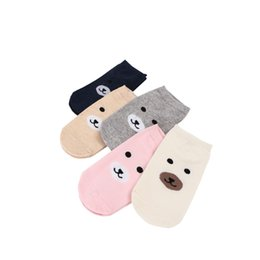 kinder socks wholesale UK - 50PAIRS LOT Women Socks Cute Cotton Ankle Sock Colorful Cartoon Stretchy Shaping Many Kind of Funny Styles Girls Sock Wholesale