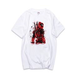 Venta al por mayor de Los hombres y las mujeres calientes pareja camisas de manga corta impresa Marvel película alrededor de los héroes de los comics camiseta de algodón muerto camisetas sueltas