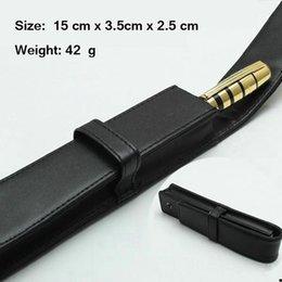 Ingrosso Penna di alta qualità MB di alta qualità in pelle o in poliuretano regalo Penna borsa per roller ball / fontana / penna a sfera