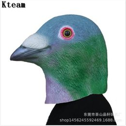 pigeon props NZ - 2018 New Hot Creepy Pigeon Head Mask 3D Latex Prop Animal Party Cosplay Costume Party Halloween Animal Bird Head Mask