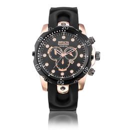 Vente en gros 2018 Nouveau INVICTA Montre-Bracelet Suisse Acier Inoxydable Or Rose Quartz Montre Hommes Sport Militaire DZ Montres Bracelet En Silicone Armée Calendrier Horloge