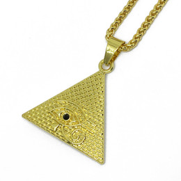 gold horus pendant UK - Egyptian Pyramid Necklaces for Women,Gold Color Egyptians Eye Of Horus Jewelry Egypt Eye Amulet Hieroglyphics #019306