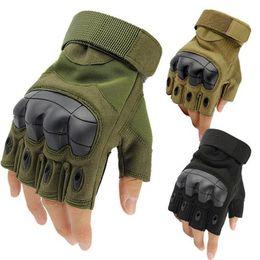 Tactical Getriebe Armee Handschuhe Männer Swat Militärischen Kampf Fingerlose Handschuhe Half Finger Soldat Paintball Shell Schützen Militar Handschuhe Bekleidung Zubehör