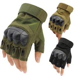 Army tActicAl gloves online shopping - Sport Outdoor Tactical Gloves Army Paintball Airsoft Outdoor Combat Anti Skid Fingerless Fighting Carbon Knuckle Half Finger Cycling Gloves