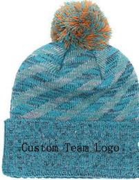 Custom Knit Beanies NZ - 2019 Autumn Winter hat men women Sports Hats Custom Knitted Cap Sideline Cold Weather Knit hat Soft Warm Dolphins Beanie Skull Cap