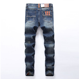 dsel jeans NZ - Fashion Men Jeans Dsel Brand Straight Fit Ripped Jeans Italian Designer Cotton Distressed Denim Jeans Wholesale Homme