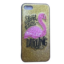 Iphone 4 cases online shopping - 2018 hot Flamingo TPU Glitter Phone Case Back Cover Protective Cases Shells for iPhone X Plus Colors to Choose