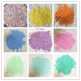 Discount styrofoam crafts - 500g bag Macarons Light Colours Pastel Foam Beads Colorful Polystyrene Foam Balls Styrofoam Filler Mini Beads Balls Craf