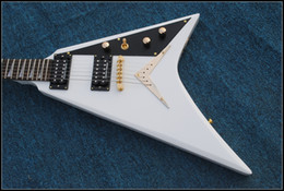 Wholesale Best Selling White Flying V Electric Guitar Beauty Guitars OEM From China