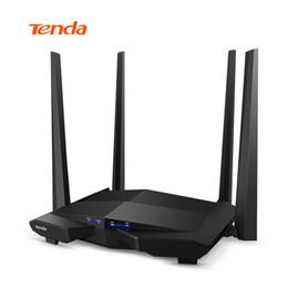 dual band high gain antenna 2018 - Tenda AC10 1200Mbps Wireless WiFi Router 2.4G 5G Dual band 4*5dbi 1GHz CPU 128M DDR3 High Gain Antennas Smart APP Manage