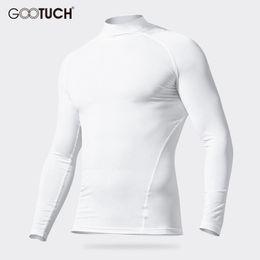 90ea7cbee3 Hombre Algodón Long Johns Hombres High Colar mangas largas Camiseta  Mantener caliente Invierno Ropa Transpirable Ropa interior térmica Tops 2572