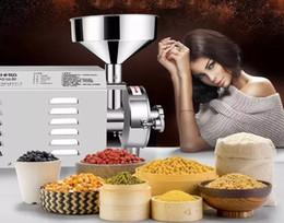 Toptan satış 110 v 220 V 2200 W Ticari Tahıl Değirmen Biber Tozu Makinesi Fiyatları Susam Biber Taşlama Makinesi Paslanmaz Çelik Baharat Ot Değirmeni LLFA