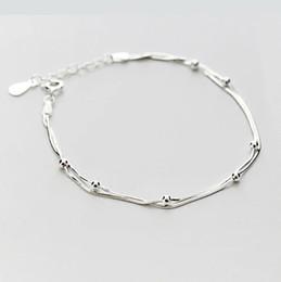 Wear Bracelet Australia - The original double bead chain jadoku lady Sterling Silver Bracelet daily wear simple and fresh style