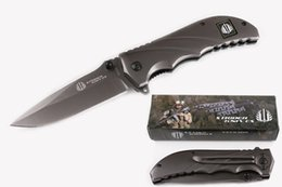 Discount very sharp knives - Strider FA22 Flipper Steel Handle Folding Knife 57HRC Blade Outdoor Tactical Survival Gift Knives Camping EDC Pocket Too