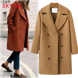 8bec0f58543a 2018 New Women Autumn Winter Outerwear Wool Blend Warm Long Coat loose Woolen  Overcoat Cashmere Female Plus Siz