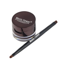 Gel Eyes Liner Australia - Music Flower Best 2 in 1 Gel Eyeliner Make Up Water-proof And Smudge-proof Cosmetics Set Eye Liner Kit in Eye Liner Makeup