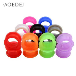 Wholesale 3-25mm Silicone Ear Plugs And Tunnels Piercing Expander Piercing Tuneles Ear Tunnels 3mm Oor Stretchers Plug oreille Ear Gauges