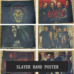 Pink Decorative Paintings Australia - COSY MOMENT Slayer Band Vintage Poster American Speed Metal Rock Music Retro Cafe Wall Decorative Painting QT380