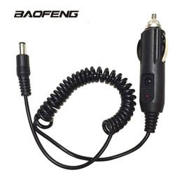 Toptan satış Baofeng walkie talkie Için araç Şarj kablosu UV 5R UV-5RE 888 S UV82 Taşınabilir Radyo Aksesuarları