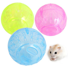 Mini plastic aniMal toys online shopping - Rat Running Mini Ball Hamster Gerbil Mice Pet Toy Jogging Exerciese Palying Plastic Runner Balls Small Animal Supplies Pure Color za bb