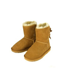 $enCountryForm.capitalKeyWord UK - New Fashion high quality WGG Women Snow Boots 2-Bow Back Decoration Australian Style Cow Suede Leather Winter Lady Outdoor Boots Brand Ivg