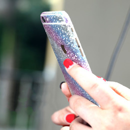 Back glitter iphone sticker online shopping - Glitter Bling Shiny Full Body Sticker Matte Skin Screen Protector For iphone Samsung Front Back decals by niubility