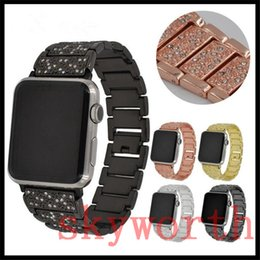 DiamonD straps online shopping - for Apple Watch mm mm mm mm Stainless Steel Strap with diamond Smart Watch Band Metal Replacement Band