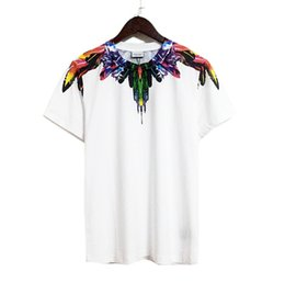 Venta al por mayor de Venta al por mayor 2018 Nueva Moda Marcelo Burlon Camiseta Hombre Mujer Condado de Milán Alas de plumas Camiseta Verano Streetwear MB Camiseta Camisetas