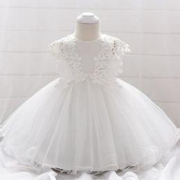 a7685d4fd Wholesale- Girls baby birthday full moon wine wedding dress small dress  lace flower princess dress Kids Party Wear Dresses For Girls