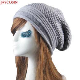 5ac230d8c1f Jaycosin warm hat female Knit Winter Warm Women Men Hip-Hop Beanie Hat Baggy  Unisex Ski Cap Skull t531