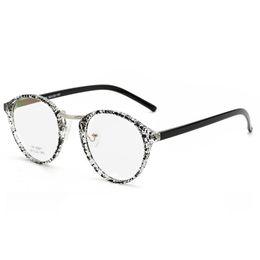613785bd05de plain style glasses 2019 - Casual Style Oval Eyeglass Man Women Round Plain  Glass Full-