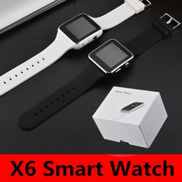 smart watch phone android sim Australia - X6 Bleutooth Smart watch bracelet Phone with SIM TF Card Slot with Camera for Samsung iPhone android IOS Smartwatch