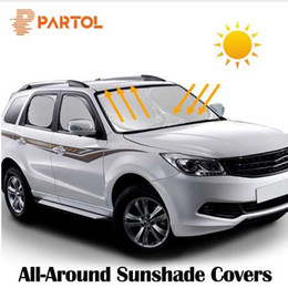 universal car reflector 2019 - Partol Universal Silver Color Coating Protective Auto Sun Shade Cover Car Windshield Visor Window Sunlight UV Protect Re